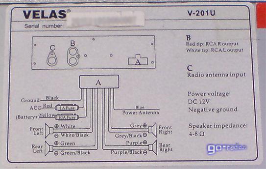 Схема подключения MP3-ресивера