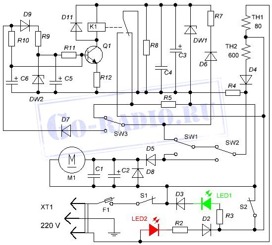 Схема чайника термоса ideal