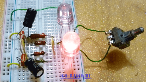 Схема электрической цепи мигалки